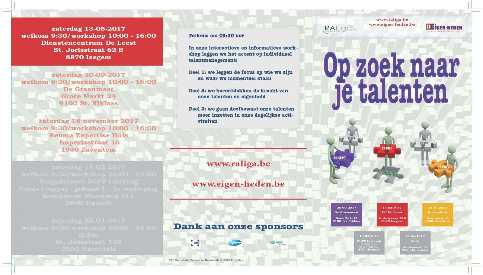 OP ZOEK NAAR JE TALENTEN - workshop Izegem (folder)